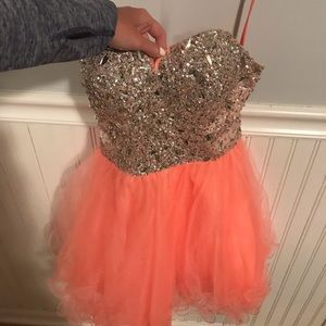 coral homecoming dress